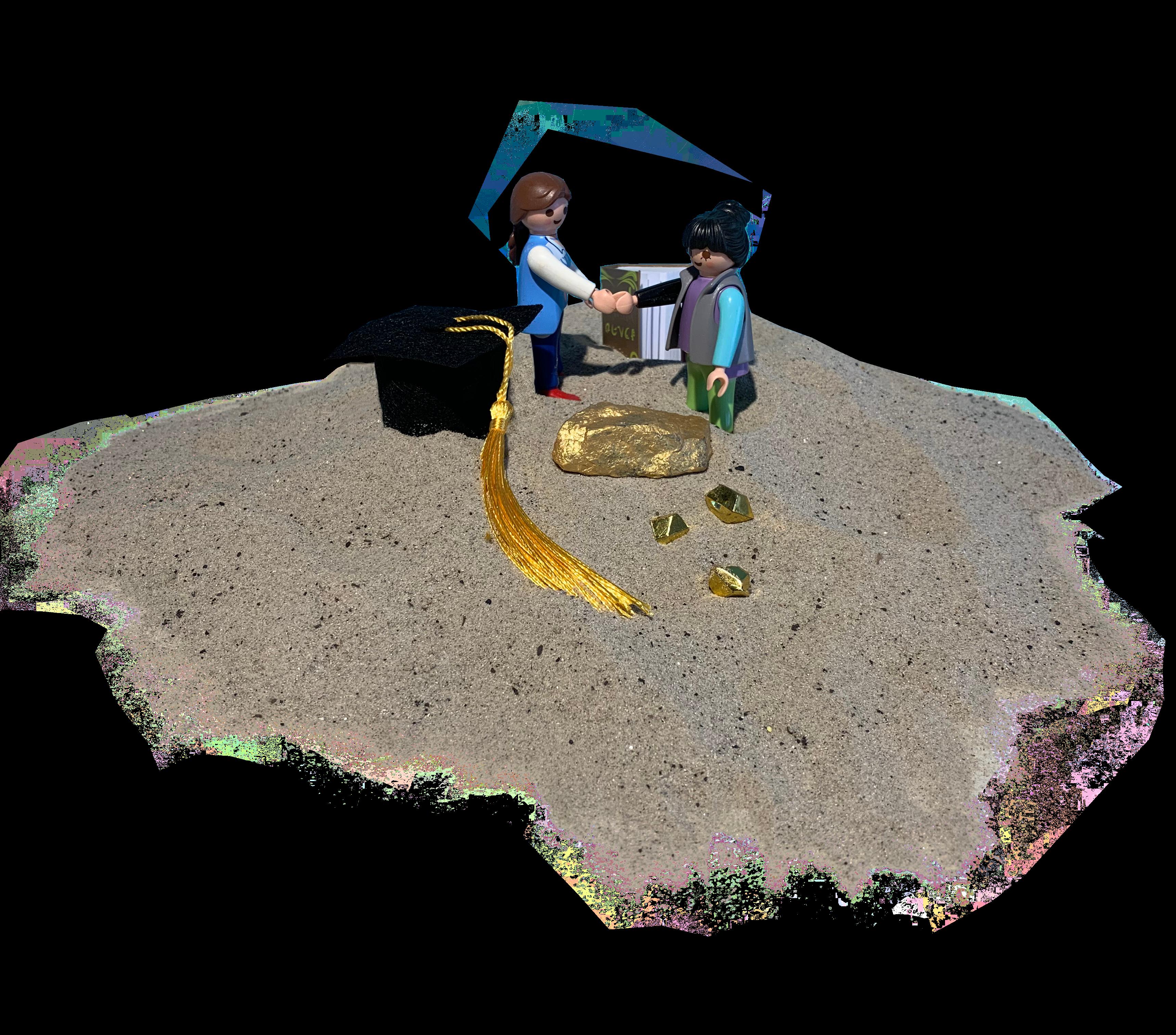 Afbeelding van een man en vrouw met puzzelstukjes in handen